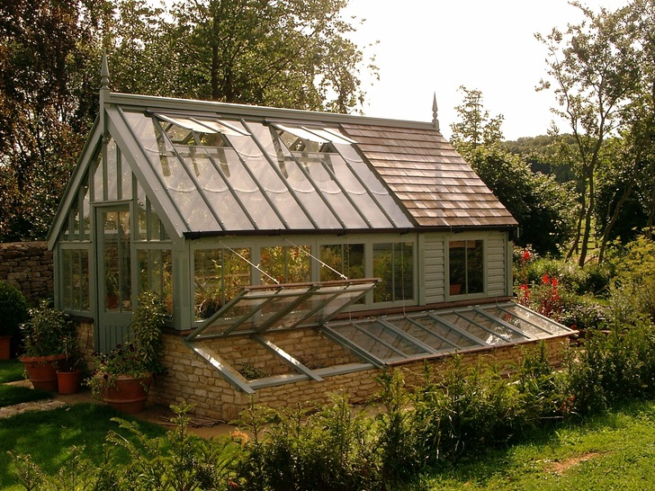 Greenhouse and potting shed combination