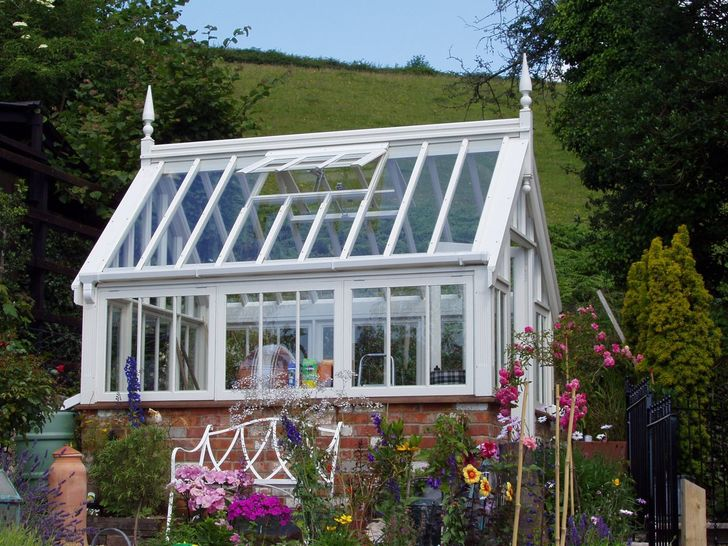 Greenhouse for a cottage garden